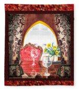 Home Sweet Home Decorative Design Welcoming Two Fleece Blanket