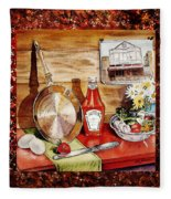 Home Sweet Home Welcoming Five Fleece Blanket