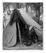 Homeless Boy, 1937 Fleece Blanket