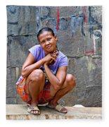 Homeless In Indonesia Fleece Blanket