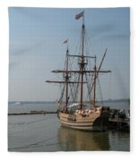 Homesteaders Sailing Ships Fleece Blanket