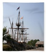 Homesteaders Ships Fleece Blanket