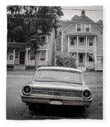 Hometown Usa Platium Print Fleece Blanket