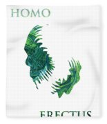 Homo Erectus 2 Fleece Blanket