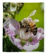 Honey Bee And Blackberry Fleece Blanket