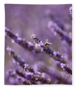 Honey Bee In Lavender Fleece Blanket