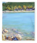 Honey Moon Beach Fleece Blanket