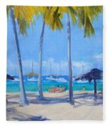 Honey Moon Beach Day Fleece Blanket