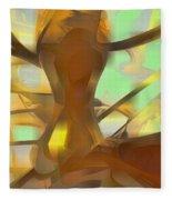 Honey Pastel Abstract Fleece Blanket