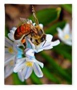 Honeybee And Squill Fleece Blanket
