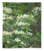 Honeysuckle Blossoms Fleece Blanket