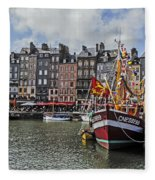 Honfleur Holiday Fleece Blanket