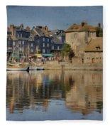 Honfleur In Normandy France Fleece Blanket