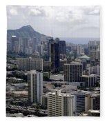 Honolulu - Diamond Head - Pacific Fleece Blanket