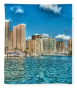 Honolulu Hi 2 Fleece Blanket