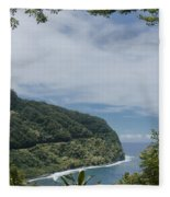 Honomanu Highway To Heaven Road To Hana Maui Hawaii Fleece Blanket
