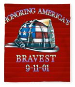 Honoring Americas Bravest From Sept 11 Fleece Blanket