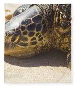 Honu - Hawaiian Sea Turtle Hookipa Beach Maui Hawaii Fleece Blanket