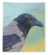 Hooded Crow Fleece Blanket