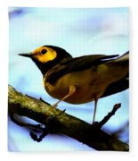 Hooded Warbler - Img 9290-002 Fleece Blanket