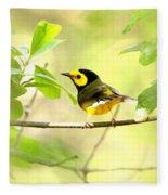 Hooded Warbler - Img_9274-009 Fleece Blanket