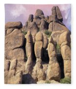 Hoodoo In The Superstition Mountains Fleece Blanket