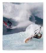 Ho'okipa Windsurfers Fleece Blanket