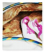 Hoola Hooping Fleece Blanket