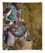 Hoop Dancer Past And Present Fleece Blanket