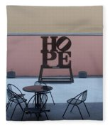 Hope And Chairs Fleece Blanket