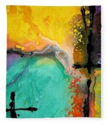 Hope - Colorful Abstract Art By Sharon Cummings Fleece Blanket