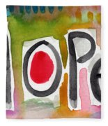 Hope- Colorful Abstract Painting Fleece Blanket