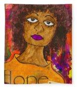 Hope For Tomorrow - Journal Art Fleece Blanket