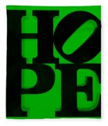 Hope In Green Fleece Blanket