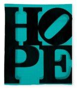 Hope In Light Blue Fleece Blanket