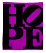 Hope In Purple Fleece Blanket