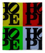 Hope In Quad Colors Fleece Blanket