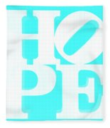 Hope Inverted Aquamarine Fleece Blanket