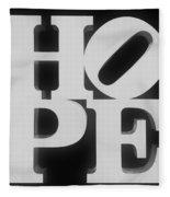 Hope Inverted Black Fleece Blanket
