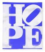 Hope Inverted Blue Fleece Blanket