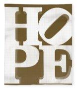 Hope Inverted Brown Fleece Blanket