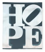 Hope Inverted Denim Fleece Blanket