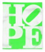 Hope Inverted Green Fleece Blanket