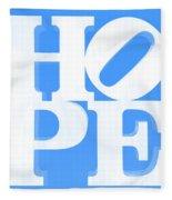 Hope Inverted Light Blue Fleece Blanket