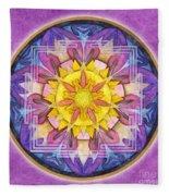 Hope Mandala Fleece Blanket