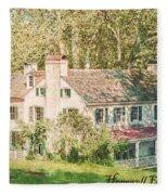 Hopewell Furnace In Pennsylvania Fleece Blanket