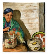 Hopi Basket Weaver Fleece Blanket