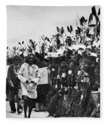 Hopi Dancers Fleece Blanket