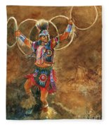 Hopi Hoop Dancer Fleece Blanket