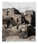 Hopi Hilltop Indian Dwelling 1920 Fleece Blanket